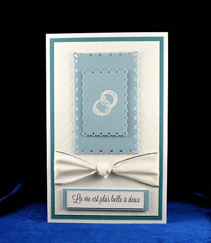 Cartes de mariage avec anneaux 3D