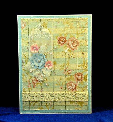 Carte de style Shabby Chic-Vintage avec petites fleurs