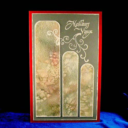 Carte de Noël 3 panneaux