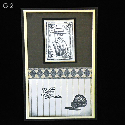Carte homme Vintage ''Golden Memories''