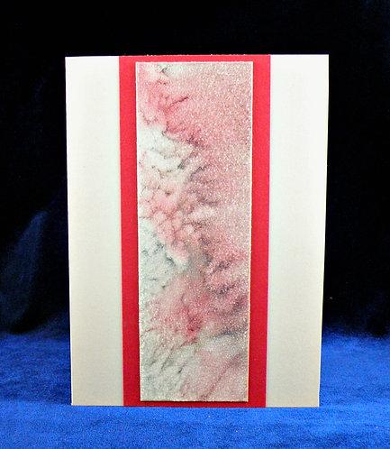 Carte à panneau artisanal rouge et gris