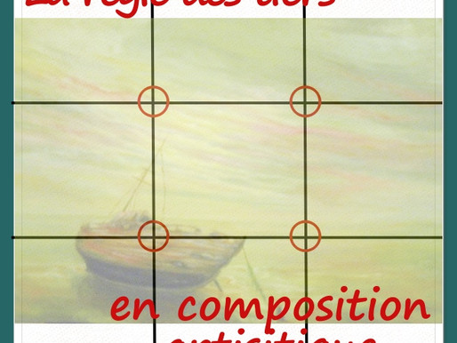 La règle des tiers en composition artistique