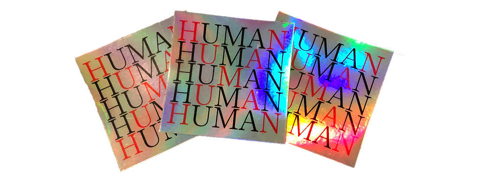 """Holographic """"X"""" Stickers (3 Pack)"""