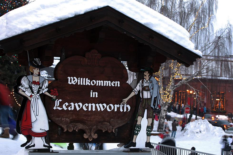 독일 마을(Leaven Worth)의 겨울