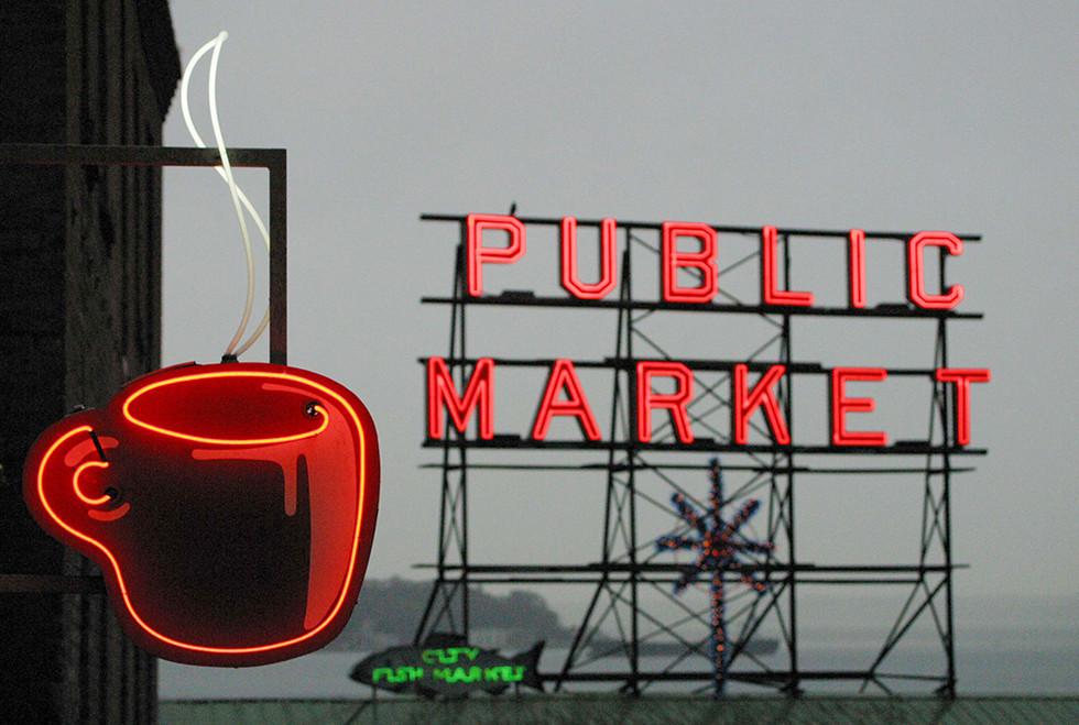 시애틀 다운타운 투어 3 퍼블릭 마켓
