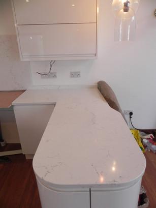 30mm Unistone Carrara Misterio (Polished) Quartz Worktops