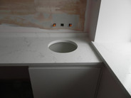 Bedroom Vanity Top made out of 30mm Unistone Carrara Misterio