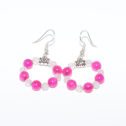 Rose Quartz and Pink Agate Earrings