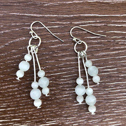White Cat's Eye Earrings