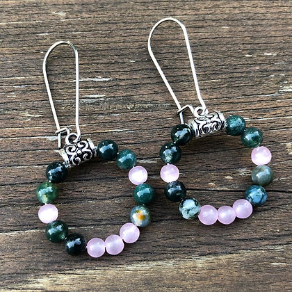 Indian Agate and Cat's Eye Loops