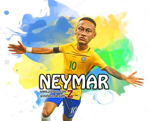 Neymar Brazil 2016 Caricature