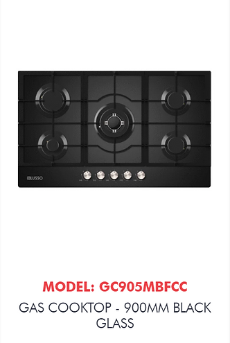black glass cooktop caloundra