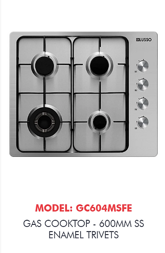 600mm gas cooktop