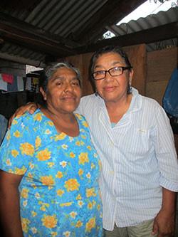 Doña Soraida (left) with GPA Training Program Director Alejandra Alvarez.