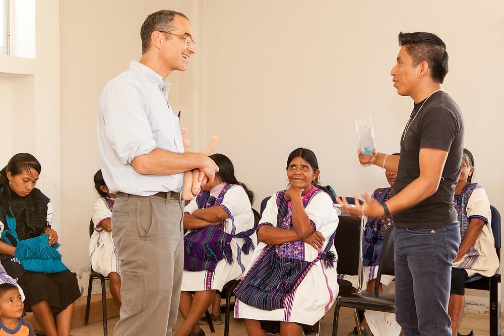 Scott Cohen and Juan Carlos Pérez at the Workshop