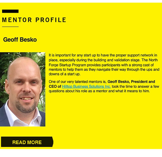 North Forge Business Mentor Profile Geoff Besko