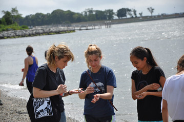 Collecting Sea Glass at Colt State Park