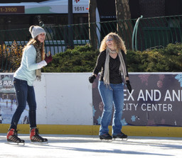 Karla and Amanda show off their skating prowess