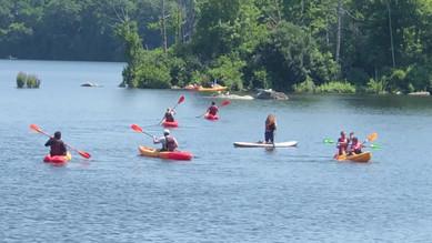 Kayaking at Lincoln Woods, Summer 2021