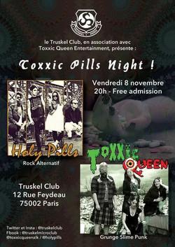 Flyer Toxxic Night @ Truskel, Paris