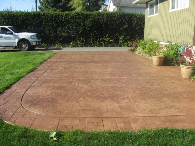 Coloured stamped concrete pad.jpg