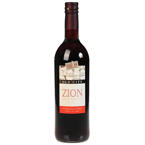 Zion Vin de Kiddush Rouge Moelleux d'Israël