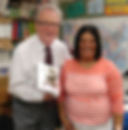 Doug with Yolanda Duckworth, teacher