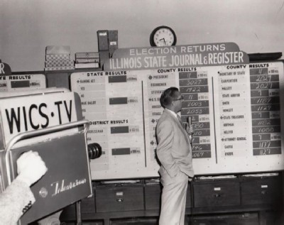 WICS Election Coverage 1956