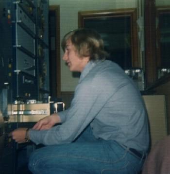 Doug setting audio levels