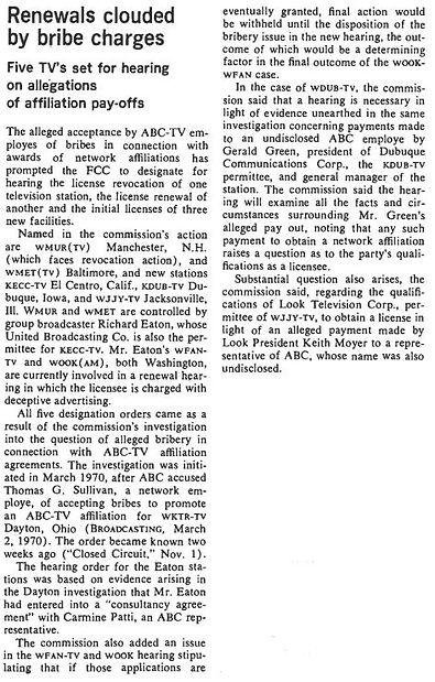 November 8, 1971 Broadcasting