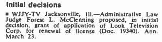 April 2, 1973, Broadcasting