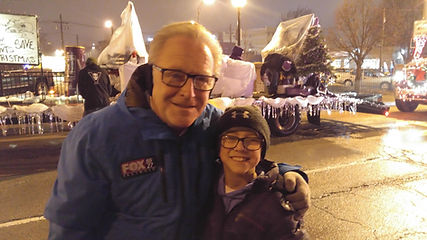 Doug and his grandson, Pete at the Parade