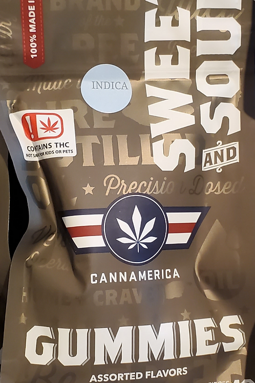 CANNAMERICA SWEET  (INDICA) 250MG 25 MGS IN 10 PIECES