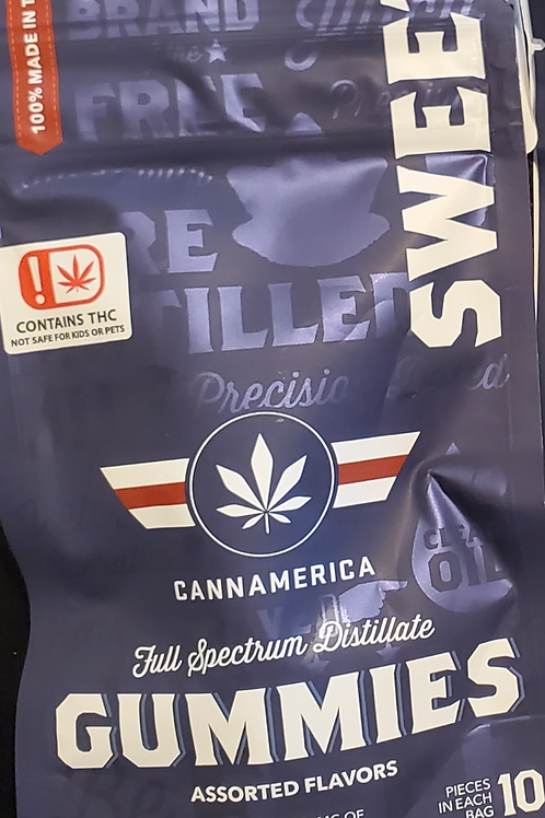 CANNAMERICA (SWEET HYBRID) 100 MG 10MG EACH IN 10 PIECES