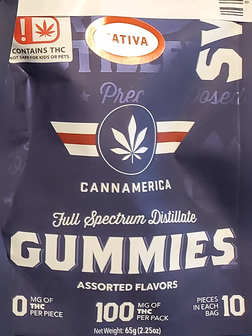 CANNAMERICA (SWEET SATIVA) 100MGS 10 MGS IN 10 PIECES