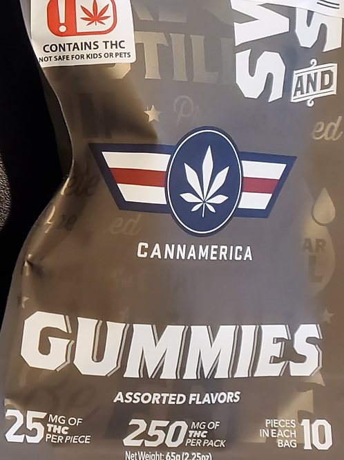 CANNAMERICA (HYBRID) 250 MG 25MG IN 10 PIECES