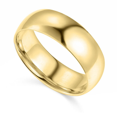 14k Yellow Gold 7-mm Comfort-fit Polished Wedding Band