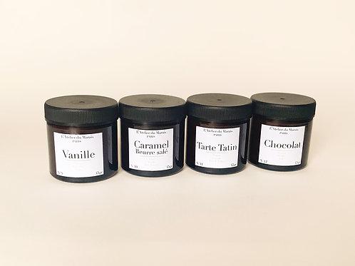 Les Gourmandes - Pack de 4 petites bougies parfumées