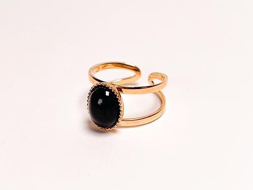 Bague Laura - Agate noire