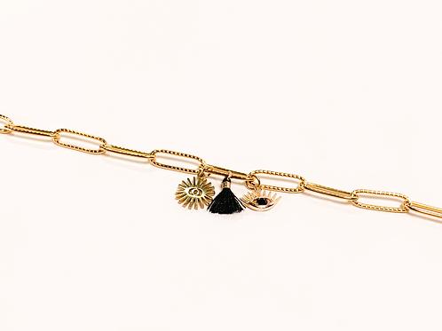 Bracelet Daphné - Noir