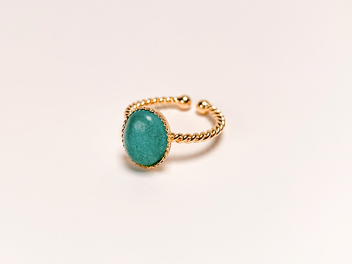 Bague Lou - Agate turquoise