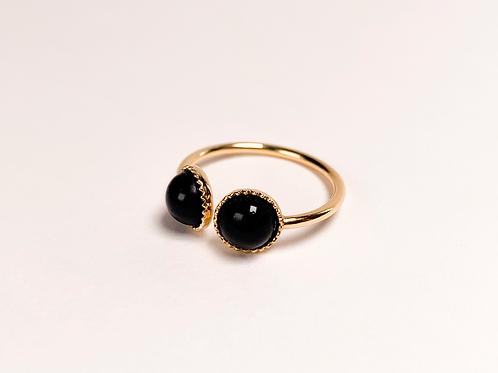 Bague Sofia - Agate noire