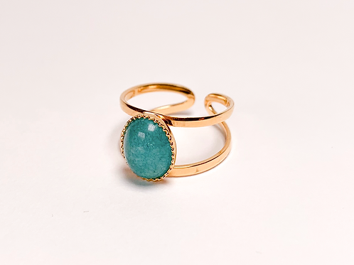 Bague Laura - Agate turquoise