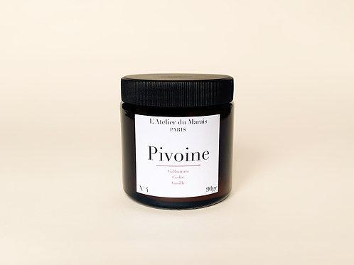 Pivoine - Bougie parfumée n°4