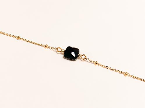 Bracelet Emily - Agate noire