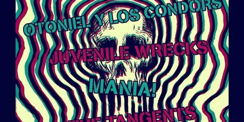 Sin Ritmo, Otniel Y Los Condors, Juvenile Wrecks, Mania! & The Tangents
