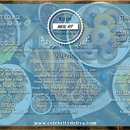 Rosh Hashanah 2020 Prepared Meals