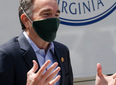 Face Coverings Required, Governor Northam Announced