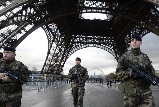 Exercise increased caution in France due to terrorism