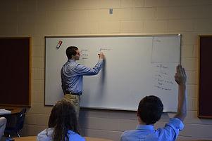 Latin class at Cardinal Kung Academy